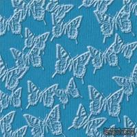 Кардсток с тиснением и внутренним слоем Core'Dinations - Core Impressions - Jenni Bowlin - Vintage Brights Collection - Aquarium Butterfly, 30х30 см