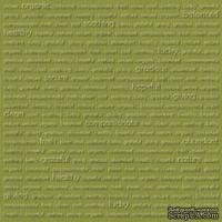 Кардсток с тиснением и внутренним слоем Core'Dinations - Core Impressions - Stacy Julian - Happy Collection - Nature, 30х30 см
