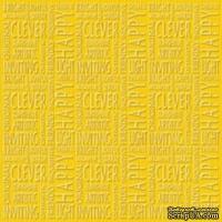 Кардсток с тиснением и внутренним слоем Core'Dinations - Core Impressions - Stacy Julian - Happy Collection - Sunshine, 30х30 см