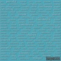 Кардсток с тиснением и внутренним слоем Core'Dinations - Core Impressions - Stacy Julian - Happy Collection - Sky, 30х30 см