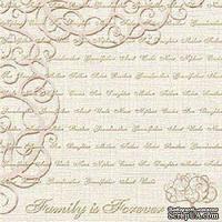 Кардсток с тиснением и внутренним слоем Core'Dinations - Core Amour - Sable Collection - Forever, 30х30 см
