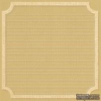 Кардсток с тиснением и внутренним слоем Core'Dinations - Core Impressions - Jenni Bowlin - Brown and Cream Collection - Beach Square Label, 30х30 см