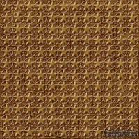 Кардсток с тиснением и внутренним слоем Core'Dinations - Core Impressions - Jenni Bowlin - Brown and Cream Collection - Burnt Sugar Stars, 30х30 см