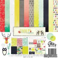 Набор бумаги и наклеек от Glitz Design - Finnley Collection Pack, 30х30 см