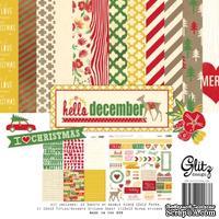Набор бумаги и наклеек от Glitz Design - Hello December Collection Pack