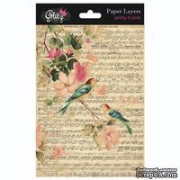 Набор подложек от Glitz Design - Pretty in Pink Paper Layers, 12,7 х 17,8 см, 6 шт.