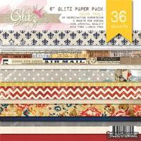 Набор бумаги от Glitz Design - Yours Truly - 15х15 см