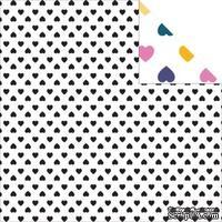 Бумага для скрапбукинга от Glitz Design - Wild&Free - Hearts, 30х30 см