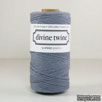 Хлопковый шнур от Divine Twine - Gray Solid, 1 мм, цвет серый, 1м