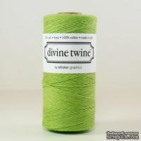 Хлопковый шнур от Divine Twine - Green Solid, 1 мм, цвет зеленый, 1м
