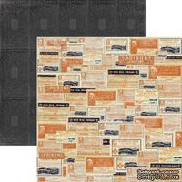 Лист скрапбумаги My Mind's Eye Labels, 30х30 см, двусторонняя