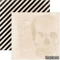 Лист скрапбумаги My Mind's Eye Skull, 30х30 см, двусторонняя