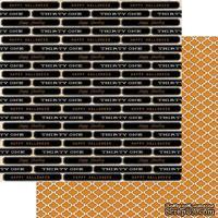 Бумага для скрапбукинга My Mind's Eye Happy Haunting - Moroccan, двусторонняя, 30х30 см, 1 лист