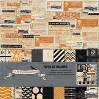 Набор бумаги для скрапбукинга My Mind's Eye Happy Haunting, 30х30 см, двусторонняя, 12 листов