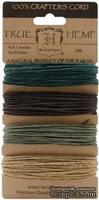 Набор шнурочков Hemptique - CAMO HEMP CORD, 9,1 м,  4 цвета