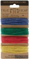 Набор шнурочков Hemptique - TOPAZ HEMP CORD, 9,1 м,  4 цвета