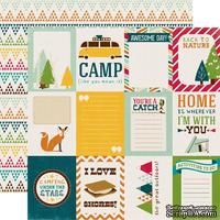 Лист бумаги с набором карточек для журналинга от Echo park - Journaling Card Paper