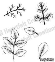 Набор штампиков от Heartfelt Creations - Leaf Medley PreCut Set, 5 шт.