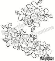 Набор штампиков от Heartfelt Creations - Tropical Floral Swirls PreCut Set, 2 шт.