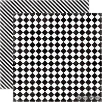 Лист бумаги от Echo Park Checker Board, 30х30см