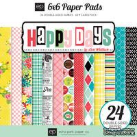 Набор бумаги от Echo Park - Happy Days (15х15), 12 листов