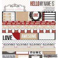 Набор двусторонней скрапбумаги Teresa Collins - Hello My Name Is - Pad, размер 15х15 см