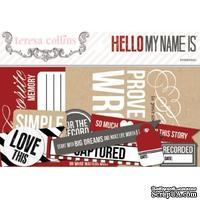Набор высечек из кардстока Teresa Collins - Hello My Name Is - Love This