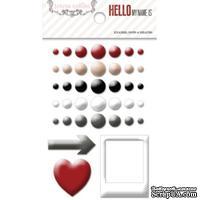 Эмалевые украшения Teresa Collins - Hello My Name Is, 38 штук