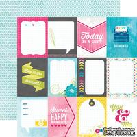 Лист бумаги с набором карточек для журналинга от Echo park - Cards Paper