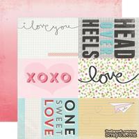 Лист скрапбумаги от Echo Park - Journaling Cards - Head Over Heels, 30х30 см