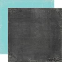 Лист скрапбумаги от Echo Park - Black /Teal, 30х30 см