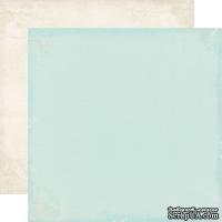 Лист скрапбумаги от Echo Park - Lt blue / Cream, 30х30 см