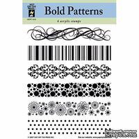 Набор акриловых штампов HOTP - Clear Stamp Bold Patterns, размер 14х17,8 см, 6 шт.