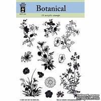 Набор акриловых штампов HOTP - Clear Stamp Botanicals, размер 14х17,8 см, 13 шт.