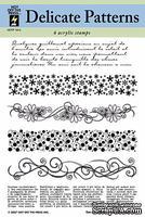 Набор акриловых штампов HOTP - Delicate Patterns Acrylic Stamps, размер 14х17,8 см