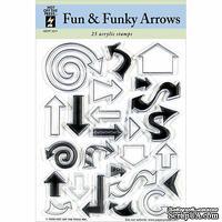Набор акриловых штампов HOTP - Clear Stamp Fun Funky Arrows, размер 14х17,8 см, 25 шт.