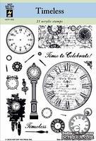 Набор акриловых штампов HOTP - Timeless Stamp Set, размер 14х17,8 см