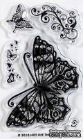 Набор акриловых штампов HOTP - Pretty Butterfly Small Stamp, размер 5х7,5 см