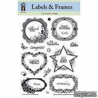 Набор акриловых штампов HOTP - Labels and Frames Stamp, размер 14,6х21,6 см, 22 шт.