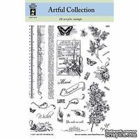 Набор акриловых штампов HOTP - Artful Collection Stamp, размер 14х17,8 см, 28 шт.