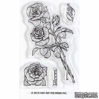 Набор акриловых штампов HOTP - Small Stamp Roses, размер 5,1х7,6 см
