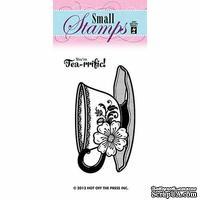 Набор акриловых штампов HOTP - Small You're Tea-rrific Stamp, размер 6,4х3,8 см