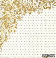 Лист бумаги HOTP - Color Me Gold Dots Paper - для работы в технике резист, 30х30 см