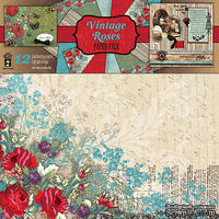 Набор скрапбумаги HOTP - Vintage Rose Paper Pack, 12 листов, размер 30х30 см