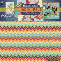 Набор двусторонней скрапбумаги HOTP - Happy Days Paper Pack, 12 листов, размер 30х30 см