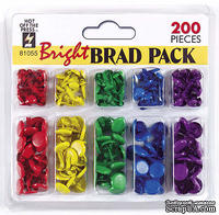 Набор брадсов HOTP - Bright Set Brads, 200 шт