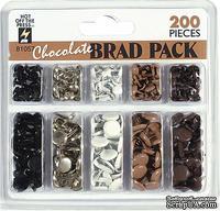 Набор брадсов HOTP - Chocolate Brads, 200 шт