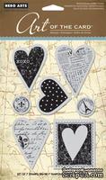 Резиновый штамп Hero Arts - Untitled Heart, c оснасткой