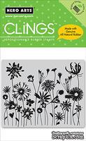 Резиновый штамп Hero Arts - Blooming Meadow, c оснасткой