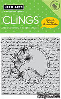Резиновый штамп Hero Arts - Bird In Circle, c оснасткой